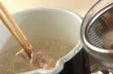 豚しゃぶの茶そばサラダの作り方1