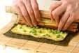 卵と野菜ののり巻きの作り方3
