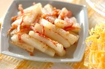 長芋のベーコン炒め