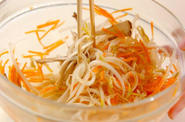 モヤシのヘルシー甘酢和えの作り方の手順7