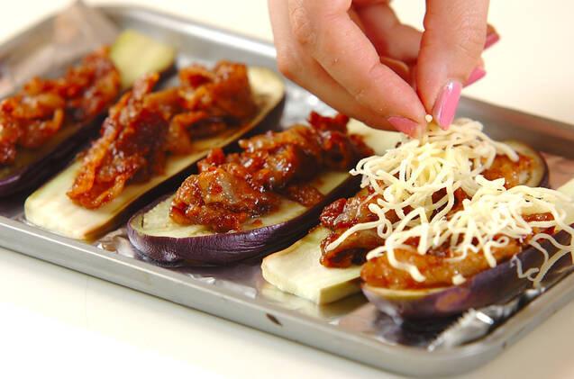 ナスの肉味噌チーズ焼きの作り方の手順4