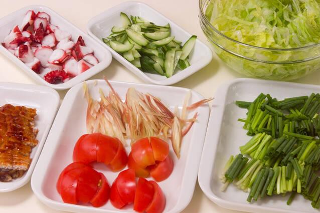 熱々ゴマ油をじゅわっとかけて!七夕素麺の作り方の手順2