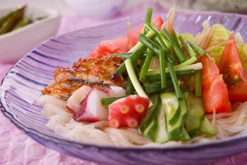 七夕素麺・熱々ゴマ油