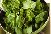 ホウレン草のバター炒めの作り方1
