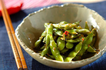 おつまみに!ニンニク香る枝豆ペペロンチーノ