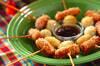 ウズラの卵とウインナーの串カツ