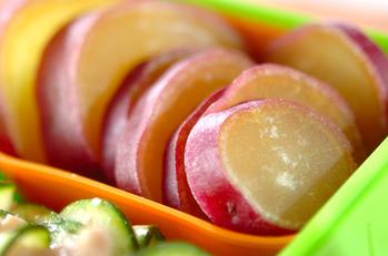 サツマイモのレンジ煮