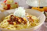 納豆とひき肉のパスタ