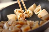 レンコンとコンニャクの炒め煮の作り方2