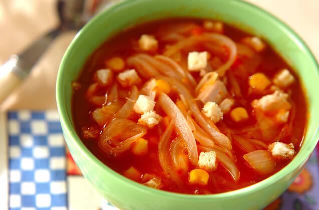 玉ねぎのトマトスープ