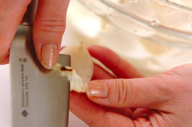 ユリネの甘卵とじの作り方の手順1