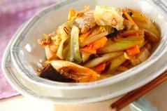 豚肉と白ネギの中華炒め