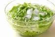 水菜のゴマサラダの下準備1