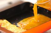 紅ショウガ入りだし巻き卵の作り方2