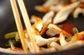 ちくわと野沢菜の炒め物の作り方3