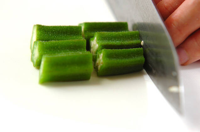 ヒジキとオクラのサラダの作り方の手順7