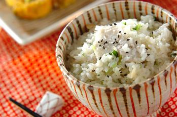 里芋とホタテの炊き込みご飯
