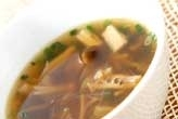 きのこと春雨のスープ