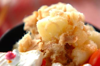 マヨ風味のジャガツナ炒め