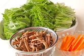 ツナと水菜のサッと煮の下準備1