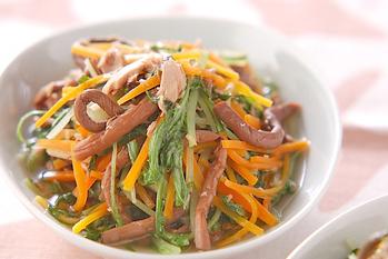 ツナと水菜のサッと煮