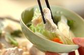 鶏肉と野菜のミルク鍋の作り方3