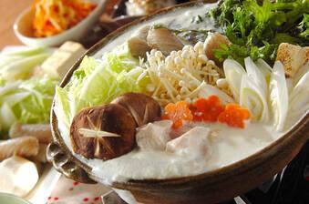 鶏肉と野菜のミルク鍋