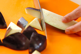 炒めナスのマリネの下準備1