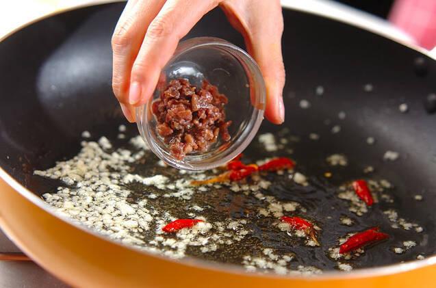 春キャベツのペペロンチーノの作り方の手順7