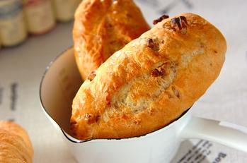 簡単、クルミフランスパン