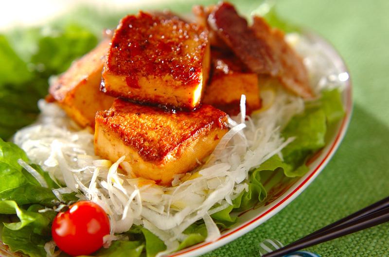 2.豆腐と豚バラ肉の中華炒め