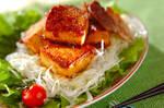 豆腐と豚バラ肉の中華炒め