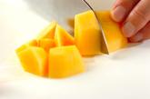 柿ミルクの下準備1