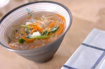 葛きり入りスープ