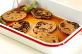 レンコンの焼き漬けの作り方5