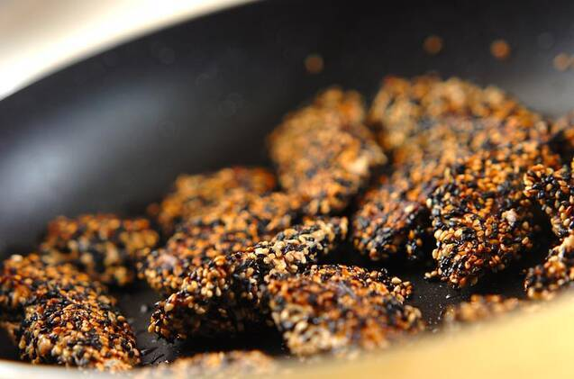 サバのゴマ照り焼きの作り方の手順4