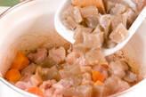 鶏肉とコンニャクの甘辛煮の作り方1