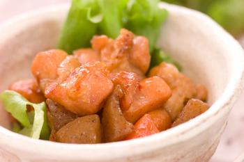 鶏肉とコンニャクの甘辛煮