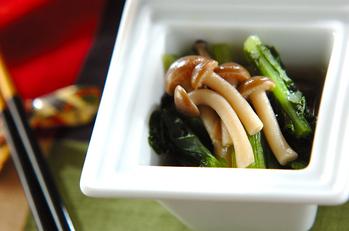 小松菜とシメジの煮浸し