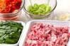 豚キムチオムレツの作り方の手順2