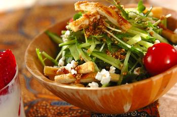 水菜のゴマドレッシングサラダ