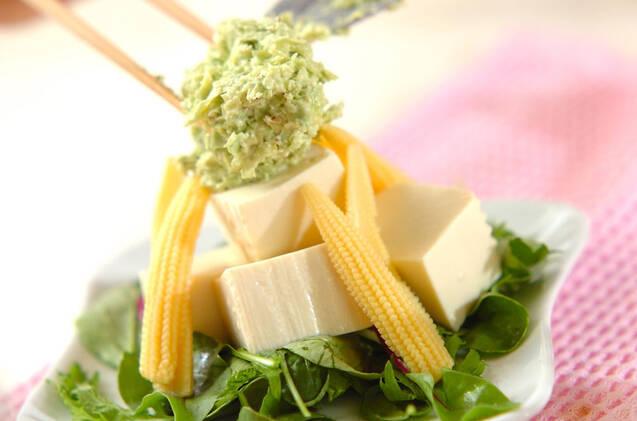 豆腐のアボカドドレッシングがけの作り方の手順5