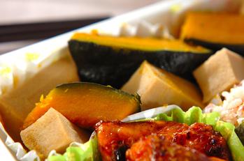 カボチャと高野豆腐の煮物