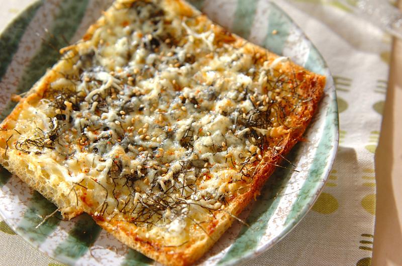 揚げ油で作るピザ