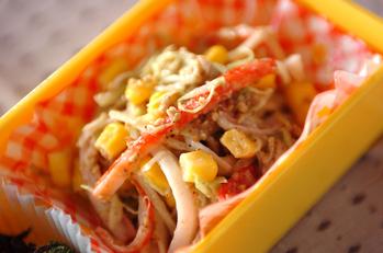 カニカマとキャベツのゴマサラダ