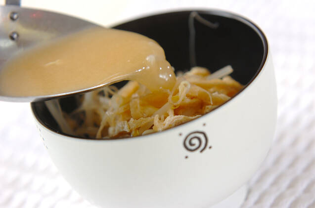 モヤシのみそ汁の作り方の手順6