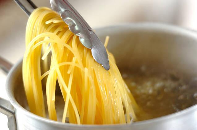 ウニの根菜クリームパスタの作り方の手順3