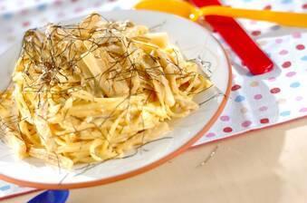 ウニの根菜クリームパスタ
