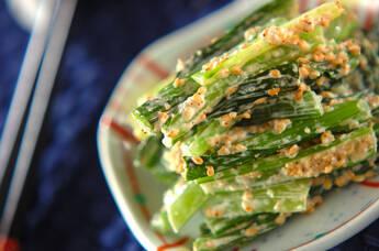 青菜のゴママヨ和え