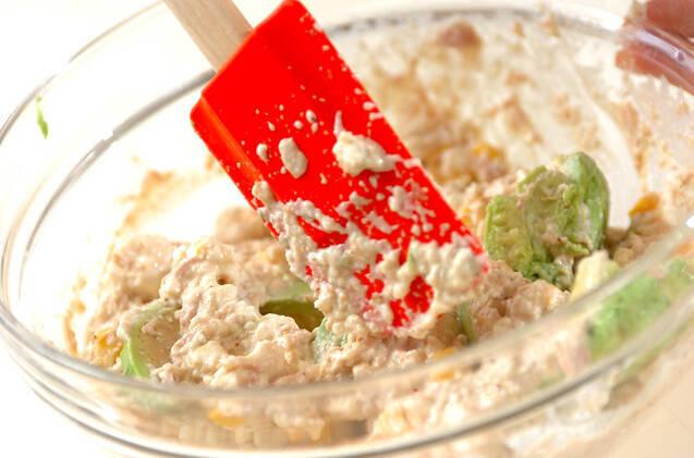 豆腐ドレッシングサラダの作り方の手順4